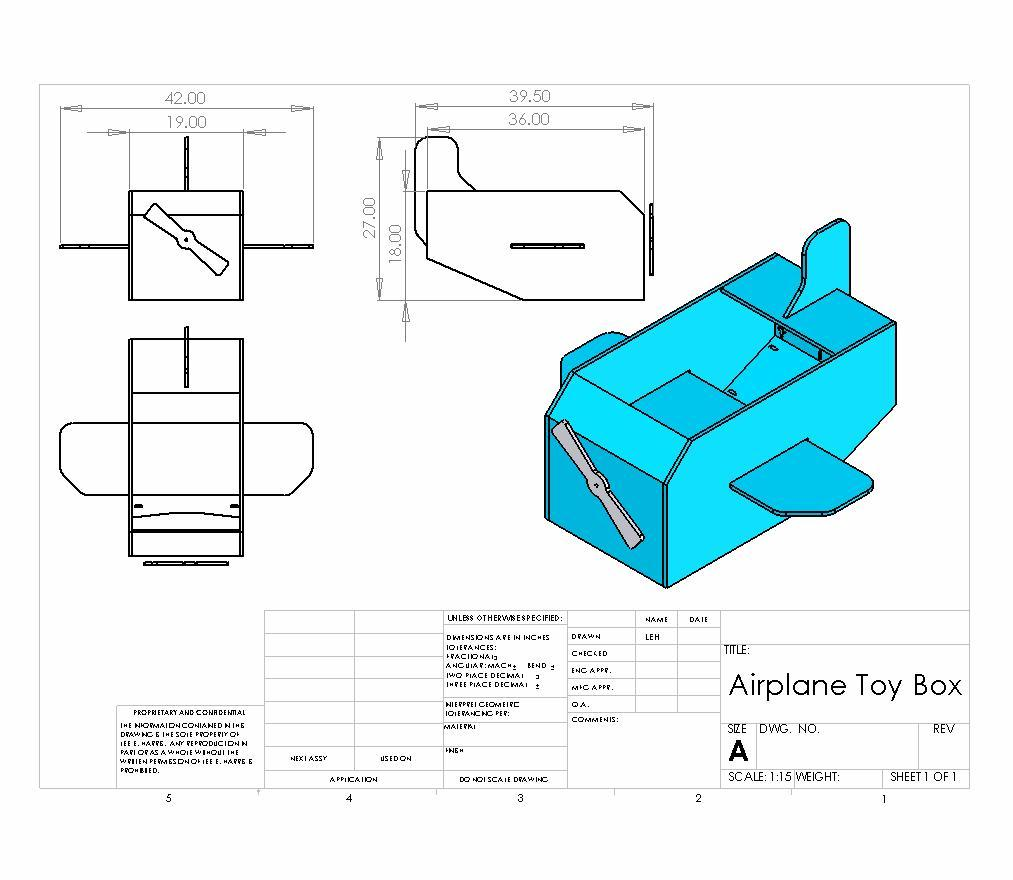 blue prints on toy box